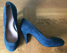 Leather Collection By Next Blue Suede High Heel Shoes Size UK 5.5 EU 38.5