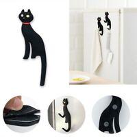 Cute Black Cat Magnet Fridge Sticker Wall Hook Hanger Organizer Holder Fashion