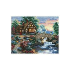"""Dimensions Gold Collection Counted Cross Stitch Kit Twilight Bridge 11""""X14""""  NEW"""