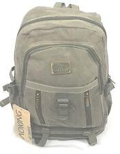 Aoking Canvas Military green laptop school travel backpack bag Rucksack