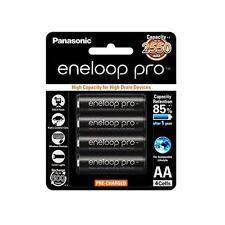 4x Panasonic Eneloop Pro 2450mAh AA High Capacity Rechargeable Batteries New MH
