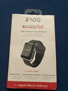 GENUINE Zagg Apple Watch (42mm) InvisibleShield HD Screen Protection