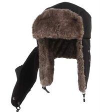 Winter Hat with Ear Flaps Detachable Face Mask Windproof Faux Fur Ushanka Hat