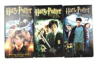 Harry Potter VHS Lot of 3 Sorcerer's Stone, Chamber of Secrets, Prisoner Azkaban