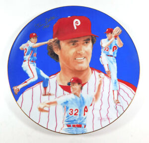 1984 Hackett American Steve Carlton and the Phillies Collectors Plate Autograph