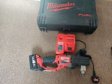 Milwaukee M18CRAD  18V Fuel Hole Hawg Right Angle Drill 4AH Bat and charger