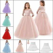 Vestido de fiesta chica adolescente elegante de princesa largo vestidos de tul boda ceremonia