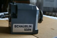 Schaublin 102n W20 Headstock With Collet Drawbar And Drive Face Plate