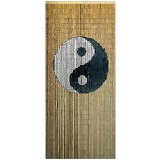 Bamboo Door Curtain Ying & Yang