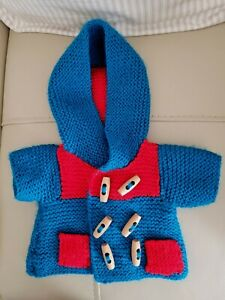 KNITTED DUFFLE JACKET FOR TEDDY BEAR