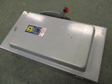 Square D Non-Fusible Safety Switch HU364 200A 600V 3Ph Used