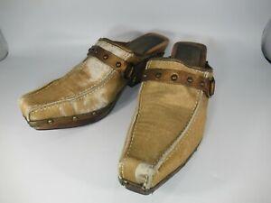 Donald J. Pliner Western Couture Charro Mules Clogs Size 9 Flat Ship $7.00
