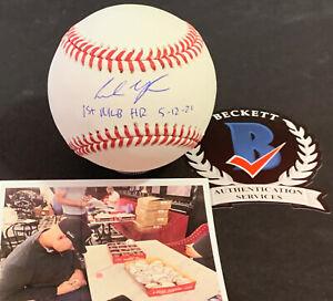 Andrew Vaughn White Sox Signed Baseball Beckett WITNESS 1st MLB HR 5-12-21 -