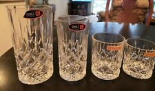 Lot of 5 Riedel  Crystal glasses, Nachtmann,  Noblesse, Mixer, Rocks, New