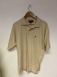 Marlboro Classic Mens Beige Polo Shirt Top Short Sleeved XL cottob