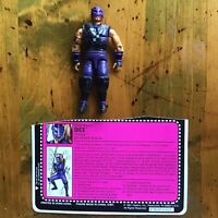 "GI JOE Vintage 3.75"" ARAH DICE V1 1992 Ninja Force W/ File Card"