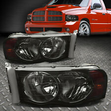 For 02-05 Dodge Ram 1500 2500 3500 Smoked Housing Amber Corner Headlight Lamps