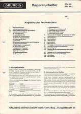 GRUNDIG - RTV 900 a 1971 - Reparaturhelfer Abgleich- und Prüfvorschrift - B3478