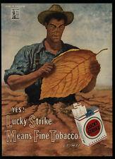 1944 LUCKY STRIKE Cigarettes - Fine American Tobacco - Farmer - VINTAGE AD