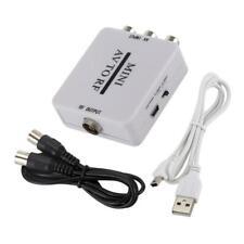 RCA/Composite A/V to RF Converter RF Modulator AV to RF Video Adapter White