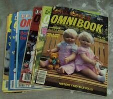 Lot/13 National Doll World OMNIBOOK Magazines ~ 1984 thru SPRING 1987