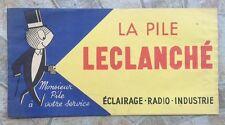 Ancien document chapeau publicitaire TOUR DE FRANCE LA PILE LECLANCHE *D