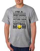 Gildan Short Sleeve T-shirt I Am A Softball Mom Mother