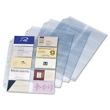 Cardinal Business Card Refill Pages Holds 200 Cards Clear 20 Cards/Sheet 10/Pack
