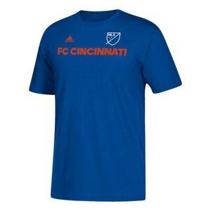 FC Cincinnati MLS Adidas Wordmark Graphic Men's Blue T-Shirt