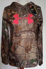 NEW$75 Under Armour Realtree Camo PiNK Fleece Hooded Sweatshirt jacket womens S