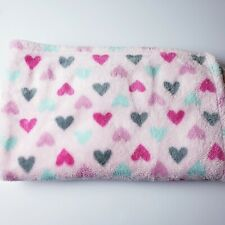 Pink Baby Gear Heart Security Blanket Gray