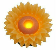 Home Reflections Floating Wax Luminary Flameless Candle w Timer - Sunflower