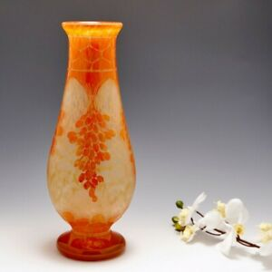 A Fine Tall Early Schneider Glass Vase 1918-21