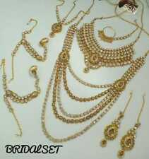 Indian Bridal Jewelry Gold Polish and Designer Bridal Kundan Jewelry set