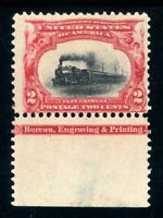 USAstamps Unused FVF US 1901 Pan-American Imprint Scott 295 OG MNH