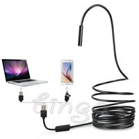 16 ft 5.5mm Semi-rigid Endoscope Waterproof Borescope Inspection HD Camera 2.0MP