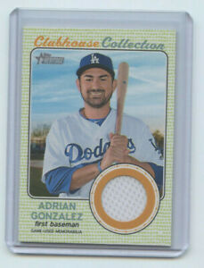 2017 TOPPS HERITAGE CLUBHOUSE COLLECTION RELIC ADRIAN GONZALEZ LA DODGERS