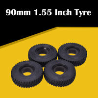 AUSTARHOBBY 4Pcs 1.55Inch Rubber Wheel Tires for RC Crawler Car Axial AX90069