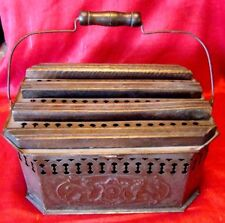Circa 1890s - Tin Carriage Foot Warmer/Heater - Made in France - Size #4 - Lions