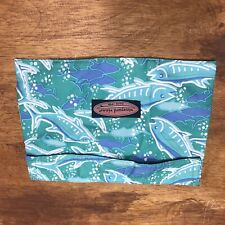 Vineyard Vines Pouch Fuzzy Enclosure Fish Green 9x6.5