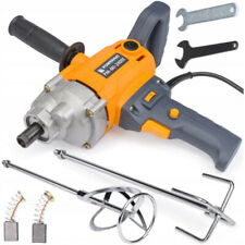 2400W ELECTRIC PADDLE MIXER MORTAR CEMENT PAINT STIRRER PLASTERING + ACCESSORIES
