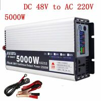 5000W Pure Sine Wave Power Inverter DC48V to AC220V for Truck/RV Car/Home Solar