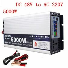 5000W Sine Wave Solar Power Inverter DC 48V to AC 220V for Truck/RV Car/Home