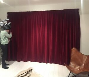 Cinema/theatre Red Velvet curtains