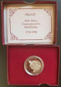 1982 USA Silver Proof Half Dollar (Washington Commemorative)  UNC..