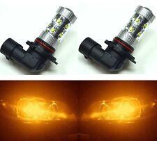 LED 50W 9005 HB3 Orange Amber Two Bulbs Head Light High Beam Replace JDM OE