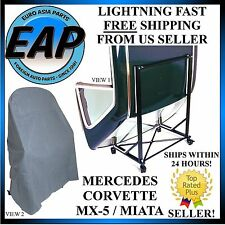 For Corvette Mercedes W113 R107 R129 Hard Convertible Top Stand Black w/ Cover