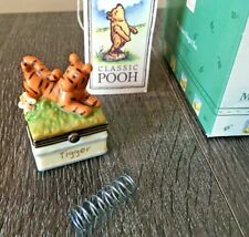 Rare Midwest of Cannon Falls Hinged Box Classic Pooh Tigger with a Spring Phb