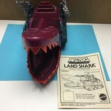 Vintage 1984 MOTU He Man Masters Of The Universe Land Shark W/instruction Manual