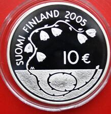 Finlandia-Finland-Suomi: 10 euro 2005 plata Proof, km # 120, Freedom, #f 1038